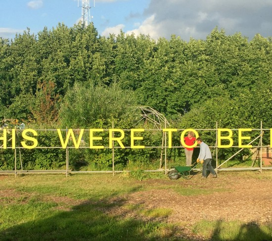 5_Jessie Brennan_If This Were to Be Lost_Painted birch plywood on scaffold_1-9 x 19m_Photograph by Matthew Robinson