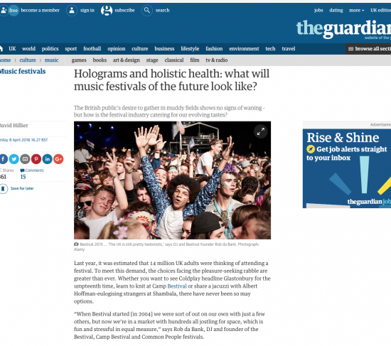 """Village Green - """"looking to the future of festivals"""""""