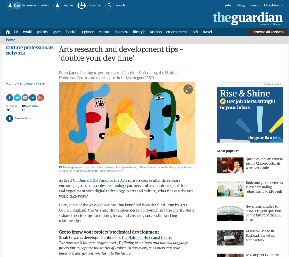 Colette Bailey & Netpark in The Guardian