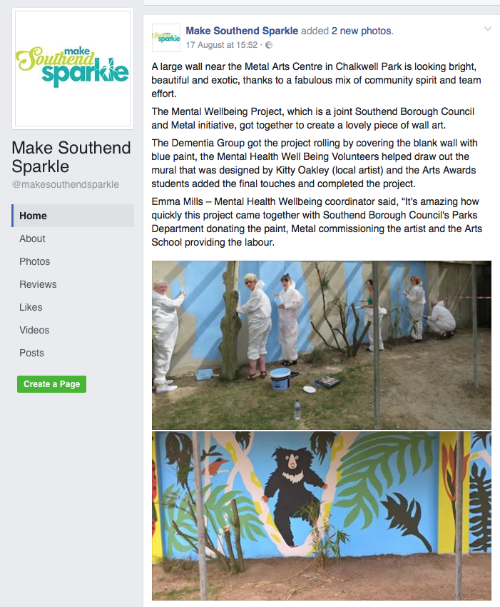 Mental Wellbeing Project Mural
