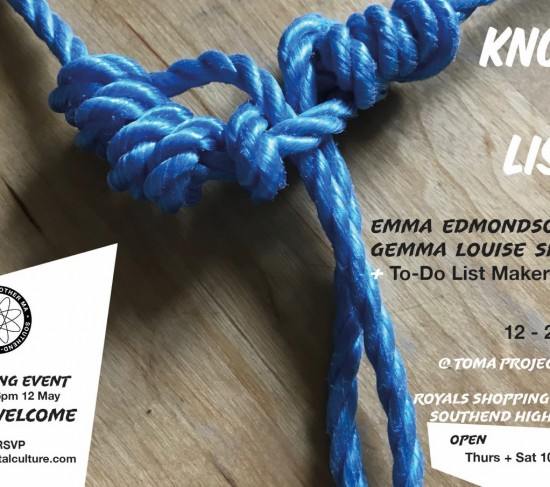exhibition flyer Knots and Lists